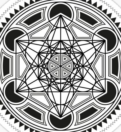 SACRED GEOMETRY - METATRONS CUBE - FLOWER OF LIFE - SPIRITUALITY - YOGA - MEDITATION Sticker