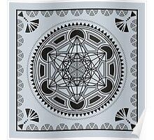 SACRED GEOMETRY - METATRONS CUBE - FLOWER OF LIFE - SPIRITUALITY - YOGA - MEDITATION Poster