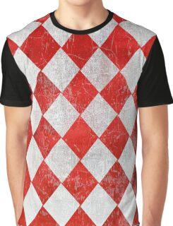 Red and White Diamonds  Graphic T-Shirt