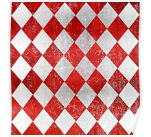 Red and White Diamonds  Poster