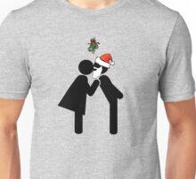 Mommy Kissing Santa under the Mistletoe Unisex T-Shirt
