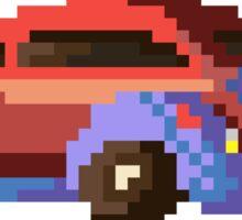 Pixel retro car Sticker
