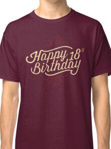 18th Birthday creme retro style - RAHMENLOS Classic T-Shirt