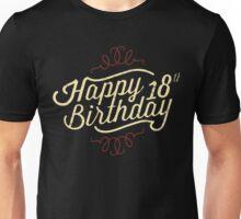 18th Birthday creme retro style - RAHMENLOS Unisex T-Shirt