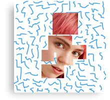Fragmented Grimes Canvas Print