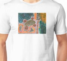 Table with Red Stools  Unisex T-Shirt