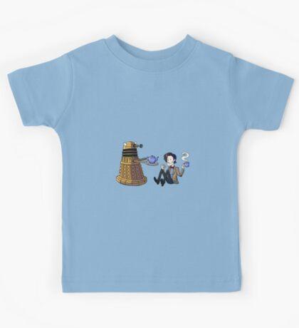 Doctor and Dalek Tea Party Kids Tee