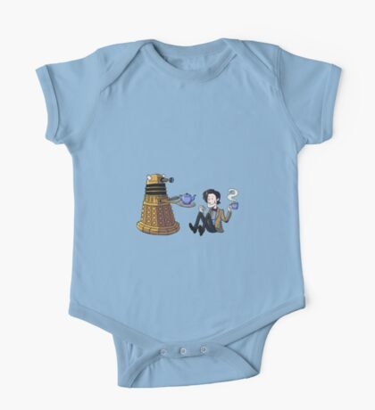 Doctor and Dalek Tea Party One Piece - Short Sleeve