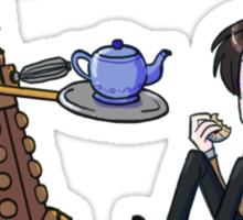 Doctor and Dalek Tea Party Sticker