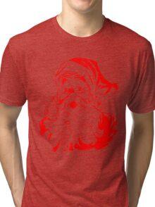 Santa Claus Vintage Retro Christmas Design Tri-blend T-Shirt