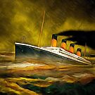 RMS Titanic in Heavy Rain by Dennis Melling