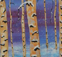Winter Bliss, Landscape Sticker