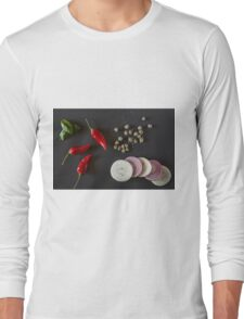 Raw organic vegetables for healthily cooking Long Sleeve T-Shirt