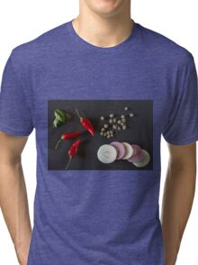 Raw organic vegetables for healthily cooking Tri-blend T-Shirt