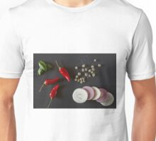 Raw organic vegetables for healthily cooking Unisex T-Shirt