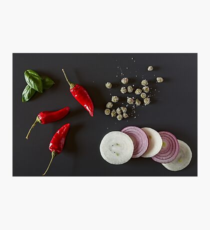 Raw organic vegetables for healthily cooking Photographic Print
