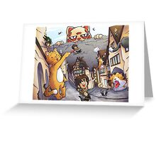 Attack on Kitten! Greeting Card