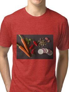 Fresh organic vegetables for a healthily cooking Tri-blend T-Shirt