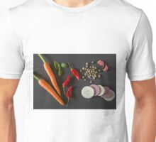 Fresh organic vegetables for a healthily cooking Unisex T-Shirt