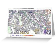 Multiple Deprivation Brockley ward, Greenwich Greeting Card