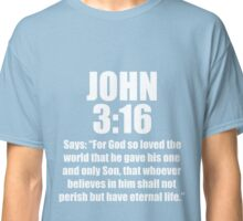Men's John 3:16 Says T-Shirt, Three 16, 316 Colors Sports Jersey Style  Classic T-Shirt