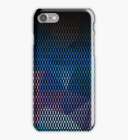 Abstract print of triangles polygon print. Bright dark design colors iPhone Case/Skin