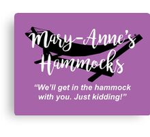 Mary-Anne's Hammocks – The Simpsons, Cypress Creek Canvas Print