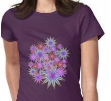 Colourful  Floral Womens Fitted T-Shirt