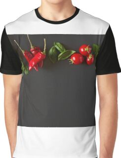 Red and green raw vegetables Graphic T-Shirt