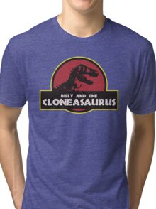Billy and the Cloneasaurus shirt – The Simpsons, Jurassic World, Jurassic Park, Homer Simpson Tri-blend T-Shirt