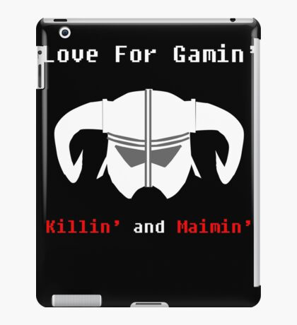 LGKM SKYRIM HELM. iPad Case/Skin