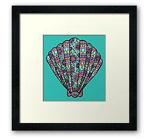 shell blue/purple/green  Framed Print