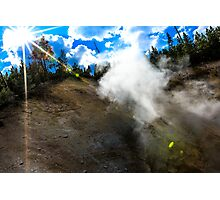 Yellowstone National Park Geysers Photographic Print