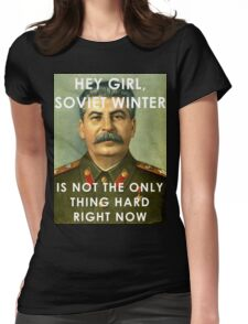 Stalin - Soviet Winter Womens Fitted T-Shirt