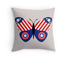Captain America Butterfly Throw Pillow