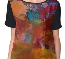 Collage | Alcohol Ink Abstract Chiffon Top