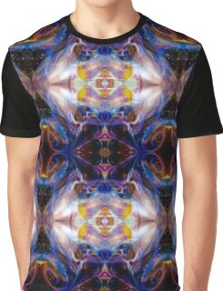 Bright Rainbow Psychedelic Butterflies Abstract Graphic T-Shirt