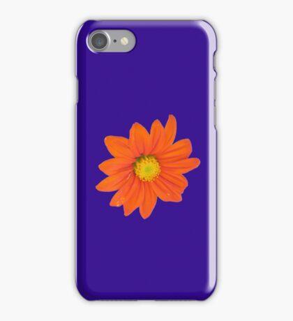 ORANGE FLOWER 0002 SF iPhone Case/Skin