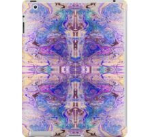 Gorgeous cross design in marbled purple ink iPad Case/Skin