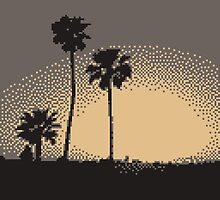 Pixel Sunset by Nikkona