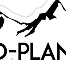 Ski Skiing Two Planker Mountain Mountains Skiing Skis Silhouette Snowboard Snowboarding 2  Sticker