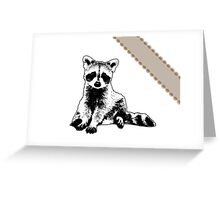 Raccoon - Critter Love Collection 6 of 6 Greeting Card