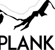 Ski Skiing 2 Planker Mountain Mountains Skiing Skis Silhouette Snowboard Snowboarding Two Sticker