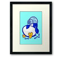 Fat Penguin Framed Print