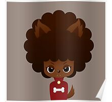 Werewolf afro girl Poster