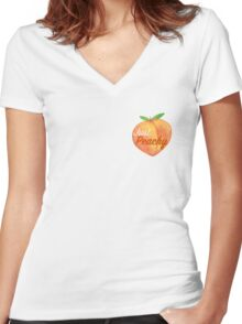 Just Peachy  Women's Fitted V-Neck T-Shirt