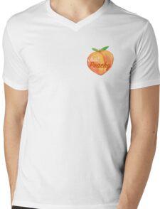 Just Peachy  Mens V-Neck T-Shirt
