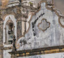 Exterior Facade Antique Colonial Church Olinda Brazil Sticker