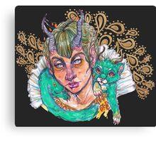 Rococo Babe Canvas Print