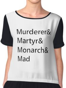 Heartless Prophecy Typography Chiffon Top